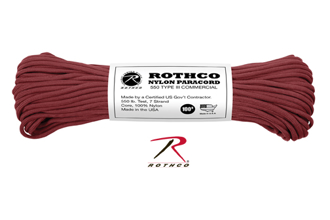 Picture of Burgundy - 100 Foot - 550 LB Type III Paracord