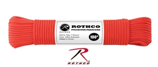 Picture of Red - 100 Foot - 5/32 Inch - Polyester Paracord