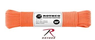 Picture of Safety Orange - 100 Foot - 5/32 Inch - Polyester Paracord