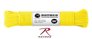 Picture of Safety Yellow - 100 Foot - 5/32 Inch - Polyester Paracord