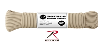Picture of Tan - 100 Foot - 5/32 Inch - Polyester Paracord
