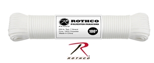 Picture of White - 100 Foot - 5/32 Inch - Polyester Paracord