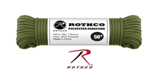 Picture of Olive Drab - 50 Foot - 5/32 Inch - Polyester Paracord