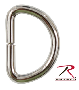 Picture of 3/4 Inch D Ring - Non Welded - Nickel Plated Iron - Rothco