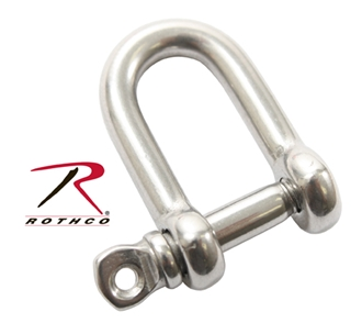Picture of 5/32 Inch Straight D Shackle with Screw Pin  - Rothco