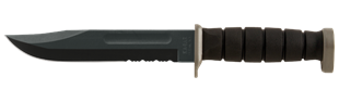 Picture of D2 Extreme Knife with Serrated Edge and Plastic Sheath by KA-BAR
