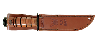 Picture of Brown Leather US NAVY Replacement Sheath by KA-BAR®