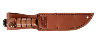 Picture of Short Brown Leather USA Replacement Sheath by KA-BAR®