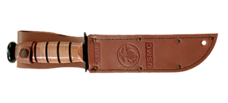 Picture of Replacement Sheath: Brown Leather, Short KA-BAR® USMC