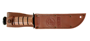 Picture of Replacement Sheath: Brown Leather, KA-BAR® USMC