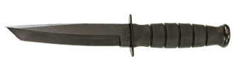 Picture of Short Black Tanto KA-BAR® with Leather Sheath