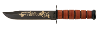 Picture of US NAVY Iraqi Freedom KA-BAR® With Brown Leather Sheath