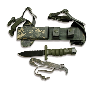 Picture of Asek Survival Knife System in ACU Digital