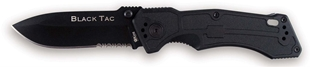 Picture of King Cutlery - Black TAC Drop Point Folder - International