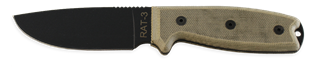 Picture of RAT-3 with 1095 Blade, Tan Handle and Green Sheath by OKC®