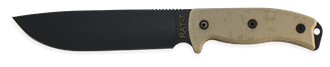 Picture of RAT-7 1095 Blade with Tan Handle and Black Sheath by OKC®