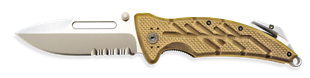 Picture of XR-1 Desert Tan Serrated Xtreme™ Rescue Folders by OKC®