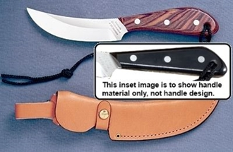Picture of Grohmann M101C - #101 | Micarta | Carbon Steel | Regular Button Tab Leather Sheath