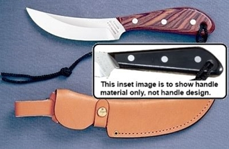 Picture of Grohmann M101S - #101   Micarta   Stainless Steel   Regular Button Tab Leather Sheath