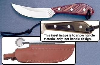 Picture of Grohmann W101SS - #101 | Water Buffalo Horn | Stainless Steel | Leather Sheath with Pouch with Sharpening Steel