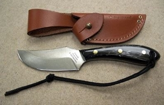 Picture of Grohmann W103S - #103   Water Buffalo Horn   Stainless Steel   Regular Button Tab Sheath