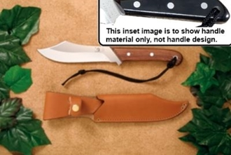Picture of Grohmann M108S - #108 | Black Micarta | Stainless Steel | Regular Button Tab Leather Sheath