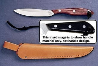 Picture of Black Micarta Handle - CS - Regular Open Leather Sheath by Grohmann®