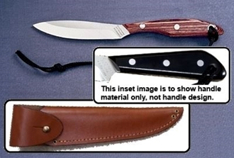 Picture of Grohmann M2SA - #2 | Black Micarta | Stainless Steel | Overlap Leather Sheath