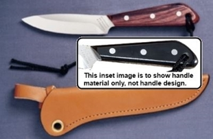 Picture of Grohmann M3S- #3 | Black Micarta | Stainless Steel | Regular Open Leather Sheath