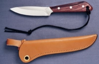 Picture of Grohmann R3C - #3   Rosewood   Carbon Steel   Regular Open Leather Sheath