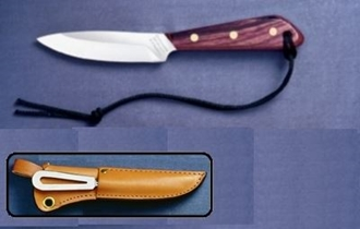 Picture of Grohmann R3SM - #3 | Rosewood | Stainless Steel | Leather Sheath with Marlin Spike and Shackler Tool