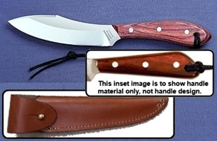 Picture of Grohmann X4SA - #4 | Water-Resistant Resinwood | Stainless Steel | Overlap Leather Sheath