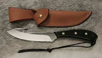 Picture of Grohmann W4SG - #4 | Water Buffalo Horn | Stainless Steel | Regular Button Tab
