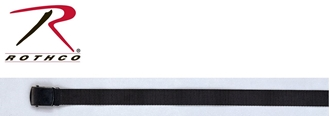 Picture of Black Nylon Web Belt with Black Buckle by Rothco®