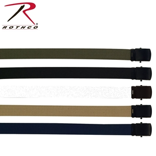 Picture of Cotton Web Belt with Black Buckle by Rothco®