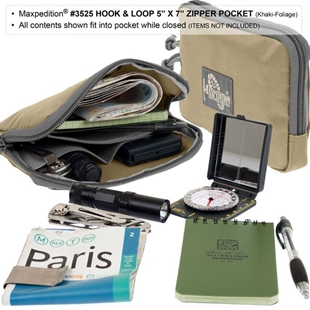 "Picture of Hook-&-Loop 5"" x 7"" Zipper Pocket by Maxpedition®"
