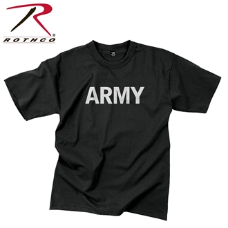 Picture of Army Reflective Grey Physical Training Poly/Cotton T-Shirt by Rothco®