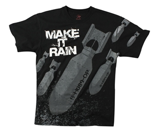 "Picture of ""Make it Rain"" Bombs T-Shirts by Rothco®"