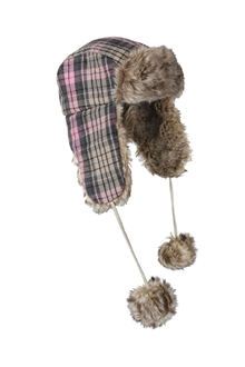 Picture of Pink Plaid Fur Flyer's Hat by Rothco®