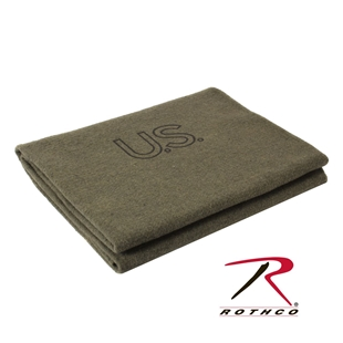 Picture of Olive Drab U.S. 70% Virgin Wool Blanket