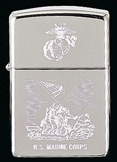 Picture of USMC Engraved on Chrome - Windproof Lighter by Zippo®