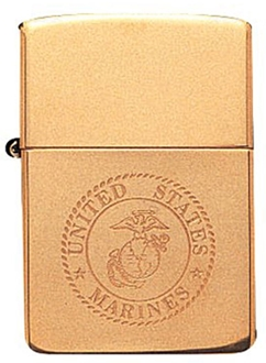 Picture of USMC Engraved on Brass - Windproof Lighter by Zippo®