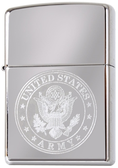 Picture of US Army Engraved on Chrome - Windproof Lighter by Zippo®