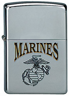 Picture of USMC Globe & Anchor on Chrome - Windproof Lighter by Zippo®
