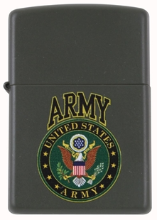 Picture of US Army Emblem on Matte Green - Windproof Lighter by Zippo®