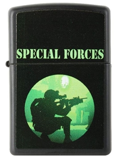 Picture of Special Forces on Matte Black - Windproof Lighter by Zippo®