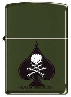Picture of Death Spade on Matte Green - Windproof Lighter by Zippo®