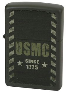 "Picture of USMC ""Since 1775"" on Matte Green - Windproof Lighter by Zippo®"