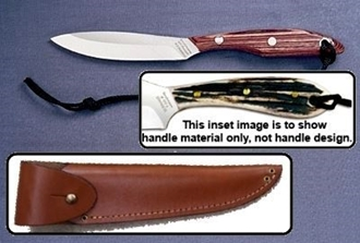 Picture of Grohmann H2CA - #2 | Stag Horn | Carbon Steel | Overlap Leather Sheath
