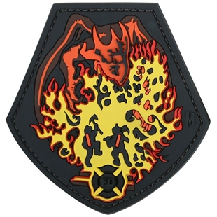 """Picture of Fire Dragon PVC Patch 3.05"""" x 3.12"""" by Maxpedition®"""